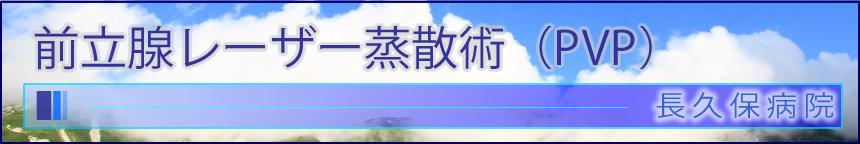 前立腺レーザー蒸散術(PVP)